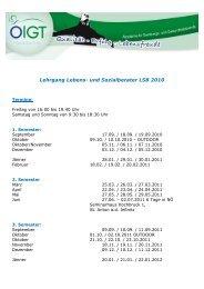 Lehrgang Lebens- und Sozialberater LSB 2010