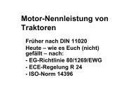 Motor-Nennleistung von Traktoren