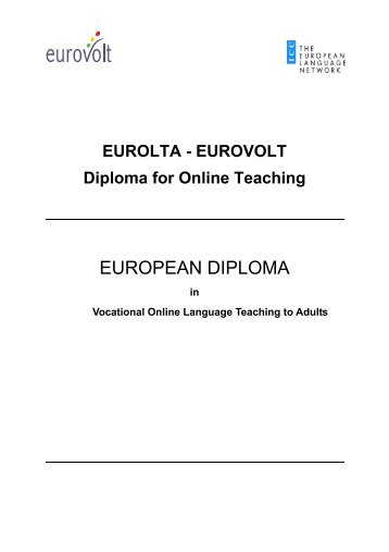 EUROLTA/ EUROVOLT ONLINE Teacher Training Diploma - Index of