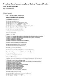 Procedures Manual to Accompany Dental Hygiene: Theory and
