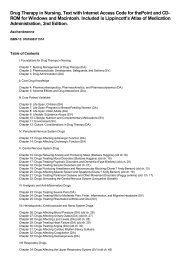 Table of Contents for (9781608311514) Drug Therapy in Nursing ...