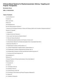 Table of Contents for (9780470978320) Chitosan-Based Systems ...