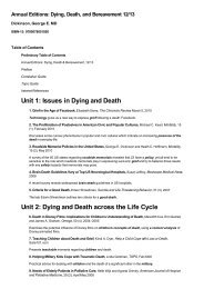 Annual Editions: Dying, Death, and Bereavement 12/13 by ...