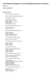Table of Contents for (9781284027402) Cancer Symptom ...