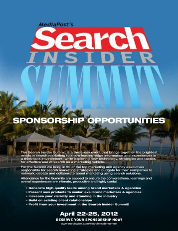 SPONSORSHIP OPPORTUNITIES - MediaPost