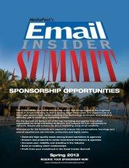 Email Insider Summit Sponsorship Opportunities (pdf) - MediaPost