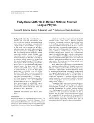 Early-Onset Arthritis in Retired National Football ... - ResearchGate