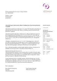 Akkreditering Sygeplejerskeuddannelsen Svendborg - University ...