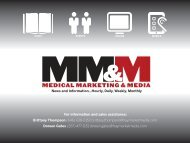 For information and sales assistance - Medical Marketing and Media