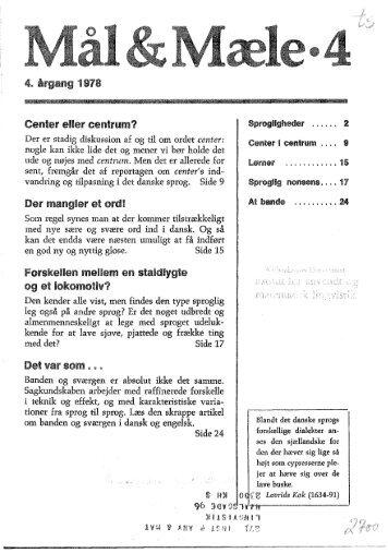 CENTROM AF GEhlTRbT! £k - Mål og Mæle