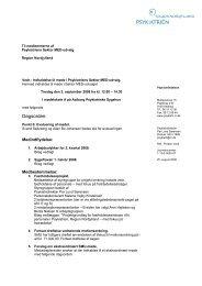 Dagsorden: - Psykiatrien - Region Nordjylland