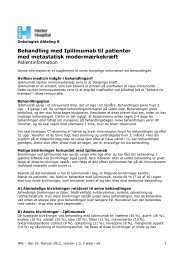 Behandling med Ipilimumab til patienter med ... - Herlev Hospital