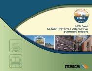 I-20 East Locally Preferred Alternative Summary Report