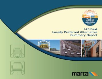 I-20 East Locally Preferred Alternative Summary Report
