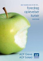 FOREDRAG OPLEVELSER KURSER - AOF - Aftenskole, kurser ...