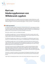 Download Medicinske Fakta for von Willebrand (pdf) - Danmarks ...
