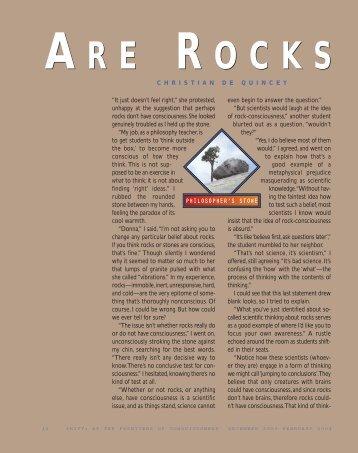 Are Rocks Conscious? - Institute of Noetic Sciences