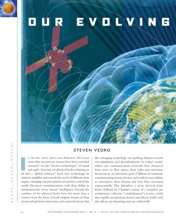 Our Evolving Global Brain - Institute of Noetic Sciences