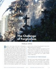The Challenge of Forgiveness D - Institute of Noetic Sciences