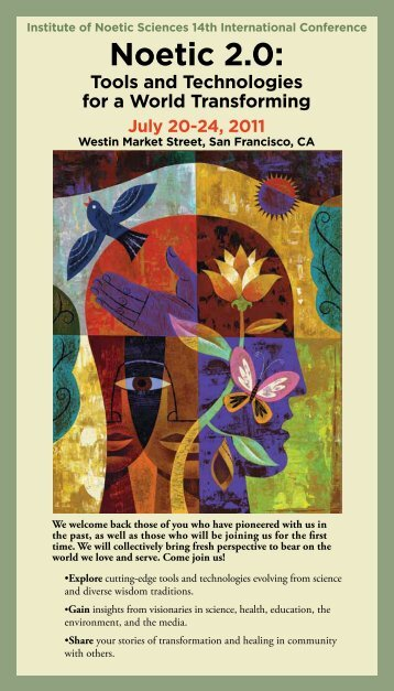 Conference brochure PDF - Institute of Noetic Sciences
