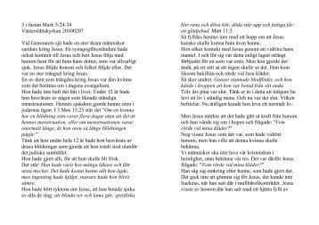3 i fastan Mark 5:24-34 Västerslättskyrkan ... - Erik Holmlund