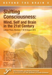 Mind, Self and Brain in the 21st Century - Institute of Noetic Sciences