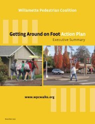 Getting Around On Foot Action Plan – Executive ... - OregonLive.com