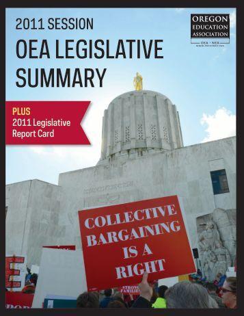 OEA LEGISLATIVE SUMMARY - Oregon Live - OregonLive.com
