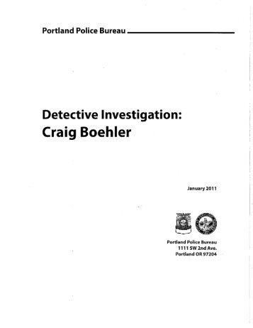 Detective Investigation: - OregonLive.com