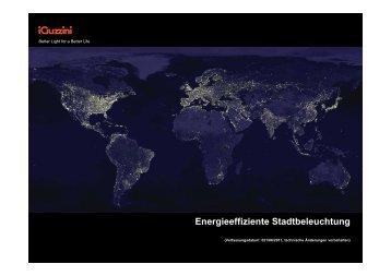 Energieeffiziente Stadtbeleuchtung