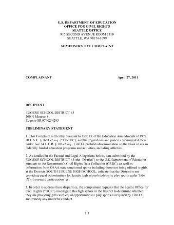 Complaint - OregonLive.com