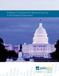 A Modern Framework for Network Security in the Federal Government