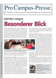 besonderer blick - Pro Campus-Presse.