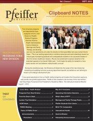 Pfeiffer_0912.qxd:Layout 1 - Pfeiffer - Pfeiffer University
