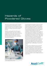 Hazards of Powdered Gloves.indd - Ansell Healthcare Europe