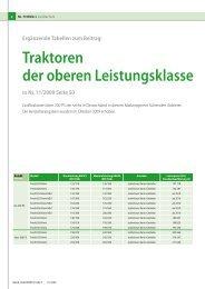 Traktoren der oberen Leistungsklasse in NL 11/2009 Seite 50