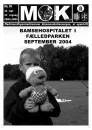BAMSEHOSPITALET I FÆLLEDPARKEN SEPTEMBER 2004 - MOK