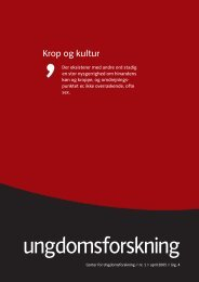 Hent april nummeret som pdf - Center for Ungdomsforskning