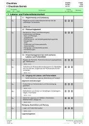 Checkliste 1 Checkliste Betrieb Lebens- und Futtermittelsicherheit 1