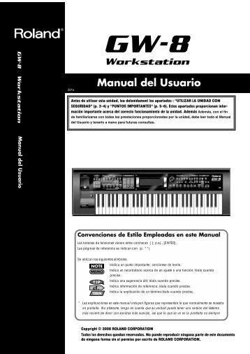 Manual del Usuario - Roland