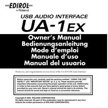 Owners Manual - Roland