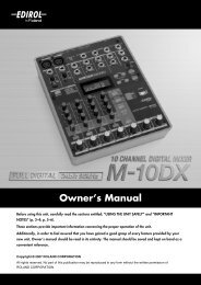 Owner's Manual - Roland
