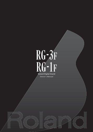 RG-1F Manual (PDF) - Roland