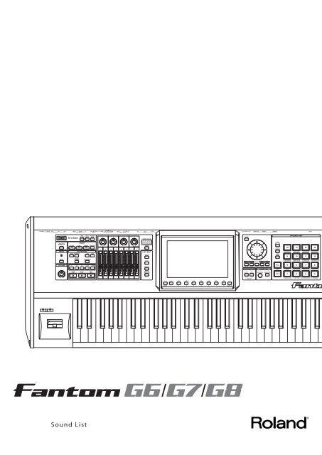 Roland Fantom-G Sound List