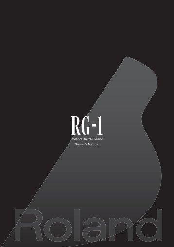 Owners Manual (RG-1_OM.pdf) - Roland