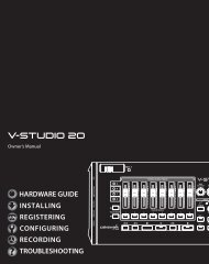 V-STUDIO 20 Owners Manual - Roland