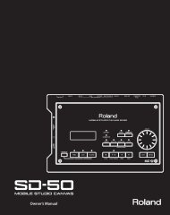 Owners Manual (SD-50_OM.pdf) - Roland