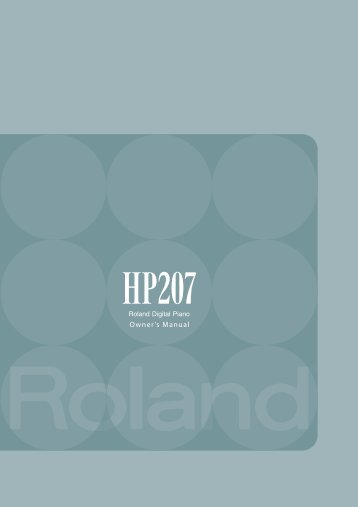 Owners Manual (HP-207_OM.pdf) - Roland