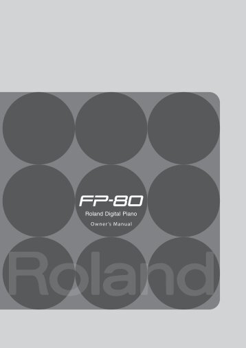 Owners Manual (FP-80_e02_W.pdf) - Roland