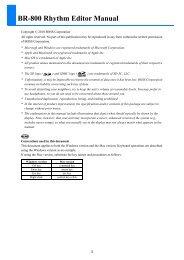 BR-800 Rhythm Editor Manual - Roland
